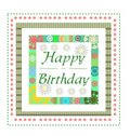 Birthday greeting card Royalty Free Stock Images
