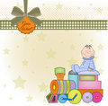 Birthday greeting card with train Royalty Free Stock Image