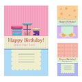 Birthday greeting cards Royalty Free Stock Photo