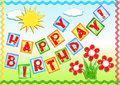 Birthday greetings. Royalty Free Stock Images