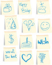 Birthday icon set Stock Image