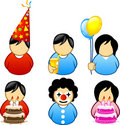 BIRTHDAY ICONS Royalty Free Stock Photo