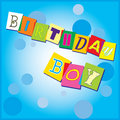 Birthday invitation for a boy Stock Images