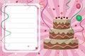 Birthday invitation card - girl Royalty Free Stock Photo