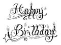 Birthday lettering party vector design element Stock Image