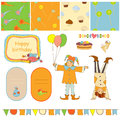 Birthday merry and little fools Royalty Free Stock Photos