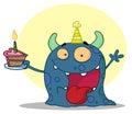 Birthday monster Royalty Free Stock Photo