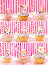 Birthday number cupcakes Stock Photo
