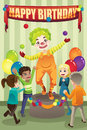 Birthday party clown Royalty Free Stock Image
