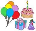 Birthday party collection Royalty Free Stock Image
