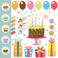 Birthday Party Elements Royalty Free Stock Photo