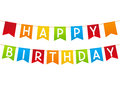 Birthday party flags Royalty Free Stock Photo