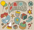 Birthday party flat vector illustration Stock Image