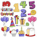 Birthday Party Graphics Royalty Free Stock Image