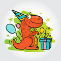 Birthday party greeting card Royalty Free Stock Images