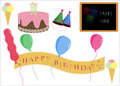 Birthday Party Icons Royalty Free Stock Photos