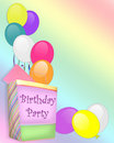 Birthday Party Invitation Balloons gift Stock Image