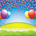Birthday party in nature vector illustration Stock Images