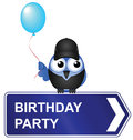 Birthday party sign Stock Photography