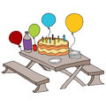 Birthday party table an image of a Royalty Free Stock Images