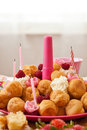 Birthday pastries Royalty Free Stock Photo