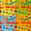 Birthday pattern happy seamless in four different colors Stock Photo