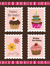 Birthday postage Stock Image