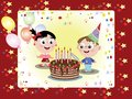 Birthday postcard Royalty Free Stock Images