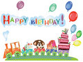 Birthday postcard Royalty Free Stock Photos