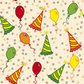 Birthday seamless pattern Royalty Free Stock Photos