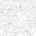 Birthday seamless pattern. Royalty Free Stock Photos