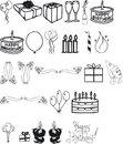 Birthday Silouettes Royalty Free Stock Images