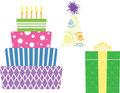 Birthday symbols Royalty Free Stock Photo