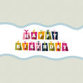 Birthday text boxes vector illustration of gift design element Stock Images