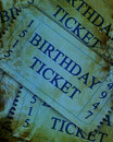 Birthday ticket Stock Image