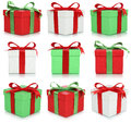 Birthday or Valentine's day gift boxes set of gifts Royalty Free Stock Photo