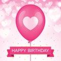 Birthday vector greeting card