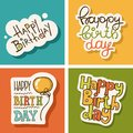 Birthday vector illustration of a happy greeting card Royalty Free Stock Photos