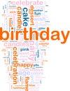 Birthday word cloud Stock Photos