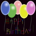 Birthdays postcard Royalty Free Stock Photography
