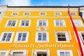 Birthplace of famous composer wolfgang amadeus mozart in salzburg austria Royalty Free Stock Image