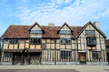 Birthplace of shakespeare the timbered house in stratford upon avon which is believed to be the william Stock Images
