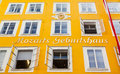 Birthplace of Wolfgang Amadeus Mozart in Salzburg, Austria Royalty Free Stock Photo