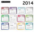 Birthstone calendar a showing birthstones for each month also available in format Stock Photos