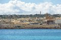 Birzebugga malta march panoramic view of birzebugga malta on march panorama of birzebugga village in malta on nice spring day Stock Photography