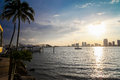 Biscayne Bay skyline Royalty Free Stock Photo