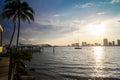 Biscayne Bay skyline Royalty Free Stock Photo