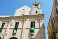 Bisceglie Cathedral with Saints patrons feast, Apulia Royalty Free Stock Photo