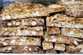 Biscotti with almonds piled in the bakery Stock Photography