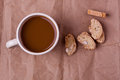 Biscotti and coffee Royalty Free Stock Photo